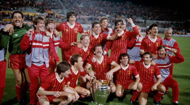 Liverpool celebrate winning the European Cup (Peter Robinson/EMPICS)