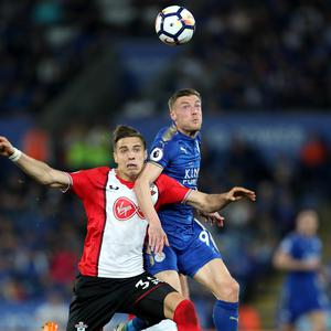 Southampton's Jan Bednarek (left) and his team-mates took a point