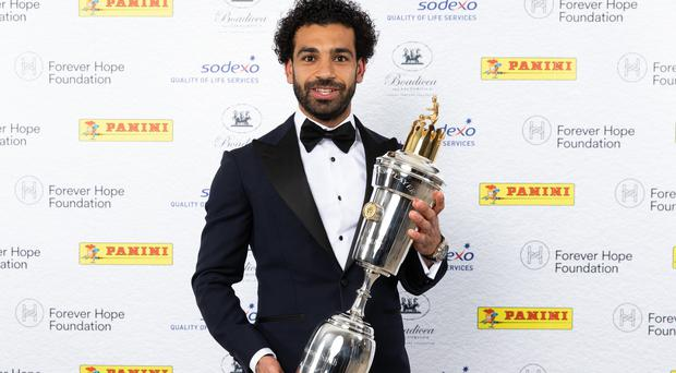 Mohamed Salah picked up the big prize on Sunday evening