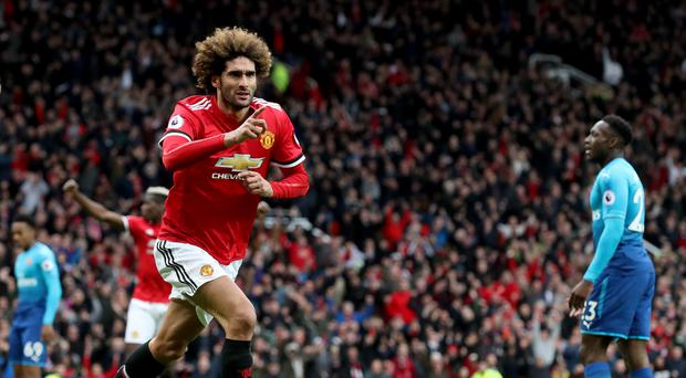 Marouane Fellaini scored the winner for Manchester United