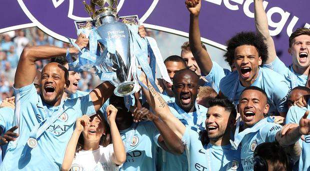 Record-breaking Manchester City give Touré a fitting send-off