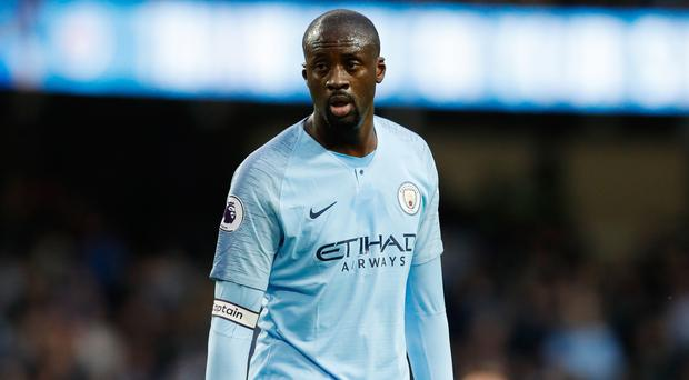 Yaya Toure made his final home appearance for Manchester City against Brighton
