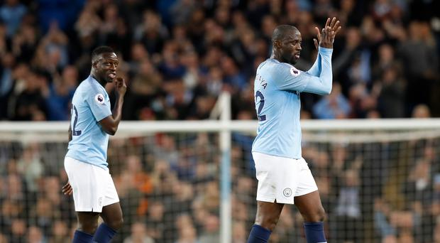 Yaya Toure made his final home appearance for Manchester City in Wednesday's victory over Brighton