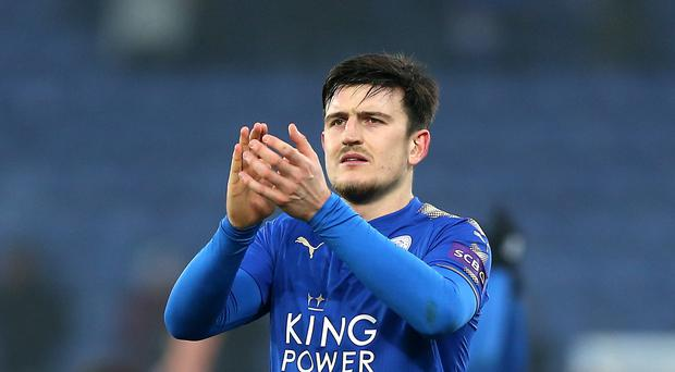 Leicester City's Harry Maguire could be on his way out of the King Power (Nigel French/Empics)