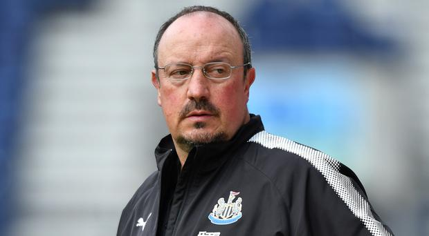 Newcastle United's manager Rafa Benitez could be heading to West Ham (Anthony Devlin/PA)