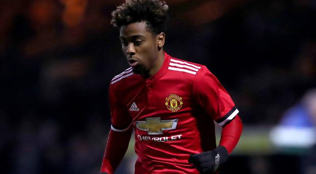 Manchester United's Angel Gomes