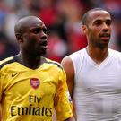 William Gallas (l) believes Thierry Henry (r) should have been in line for the Arsenal job. (Jon Buckle/EMPICS Sport)