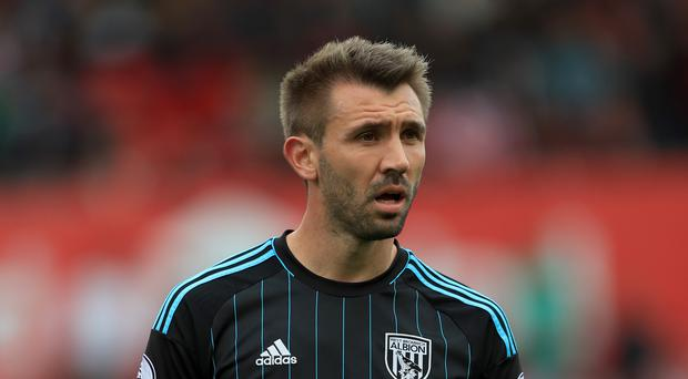 Gareth McAuley was released by West Brom