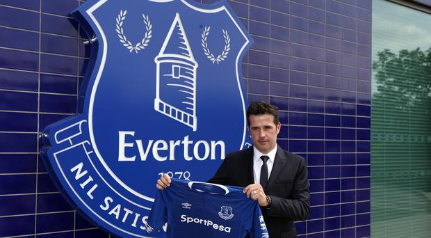 New Everton manager Marco Silva insists he needs time to turn the club around (Credit: Martin Rickett/PA).