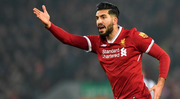 Liverpool midfielder Emre Can is on the verge of completing a move to Juventus (Anthony Devlin/PA)