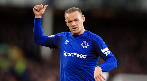 Everton forward Wayne Rooney has been encouraged to make a move to Major League Soccer by Steven Gerrard (Credit: Peter Byrne/PA).