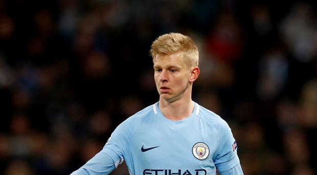 Manchester City's Oleksandr Zinchenko is a target for Wolves (Martin Rickett/PA)
