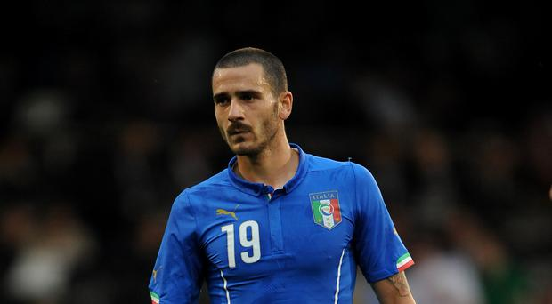 Leonardo Bonucci is wanted by Manchester United (Nigel French/PA)