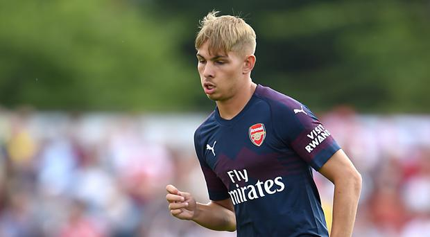 Emile Smith Rowe hit Arsenal's equaliser in a friendly against Atletico Madrid (Daniel Hambury/PA)