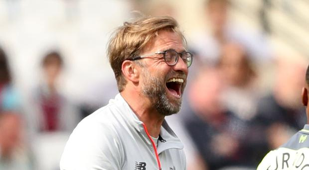 Liverpool manager Jurgen Klopp has laughed off comments from Manchester United rival Jose Mourinho (Adam Davy/PA).