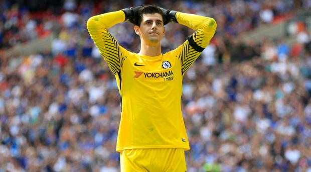 Thibaut Courtois wants to leave Chelsea (Nigel French/PA)