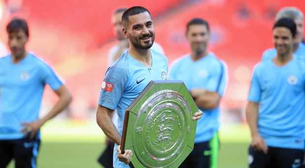 Ilkay Gundogan was impressed with Manchester City's start to the season in Sunday's Community Shield win at Wembley (Adam Davy/PA Images)