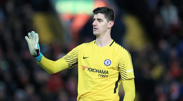 Chelsea goalkeeper Thibaut Courtois was absent from training on Monday. (Peter Byrne/PA)