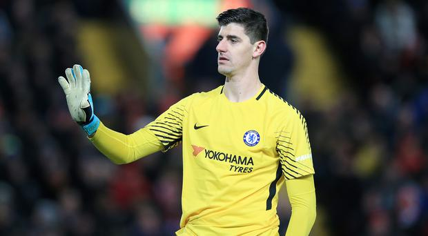 Chelsea goalkeeper Thibaut Courtois has yet to resolve his future ahead of the new Premier League campaign. (Peter Byrne/PA)