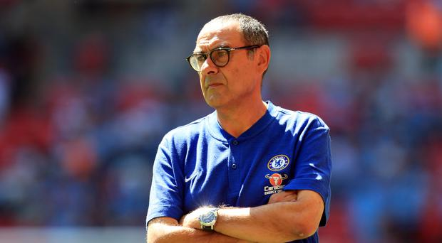 Chelsea manager Maurizio Sarri had to deal with plenty of goalkeeper speculation (Mike Egerton/PA)
