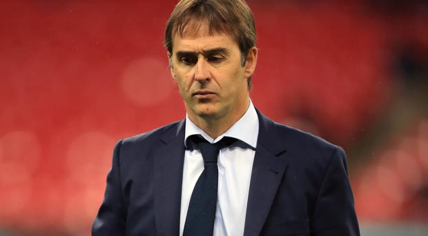 Julen Lopetegui (pictured) refused to address the Thibaut Courtois saga (Mike Egerton/PA)