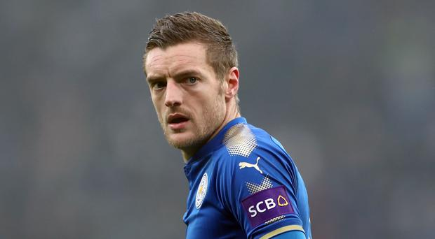 Jamie Vardy has signed a new contract at Leicester (Tim Goode/PA)