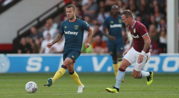 Jack Wilshere, left, is one of nine new faces at West Ham (David Davies/PA)