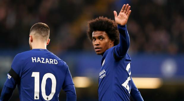 "It will be ""impossible"" for Eden Hazard and Willian to leave Chelsea this month, Maurizio Sarri says (John Walton/PA)"