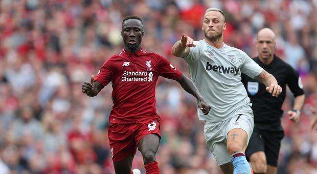 Naby Keita (left) was among the new faces to feature at Anfield (David Davies/PA)
