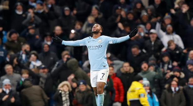 Raheem Sterling continues to fight criticism of his finishing despite some good returns last season (Martin Rickett/PA)