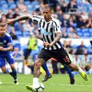 Newcastle forward Kenedy misses a penalty in the 0-0 draw at Cardiff – but should he still have been on the pitch? (Simon Galloway/PA)