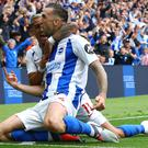 Shane Duffy scored Brighton's second (Gareth Fuller/PA)