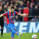 Crystal Palace's Luka Milivojevic did not agree with the penalty awarded to Liverpool at Selhurst Park (Adam Davy/PA)