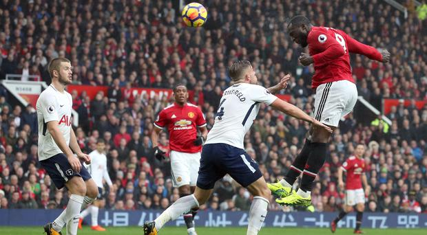 Romelu Lukaku will be hoping to guide Manchester United to victory over Tottenham on Monday. (Martin RIckett/PA)