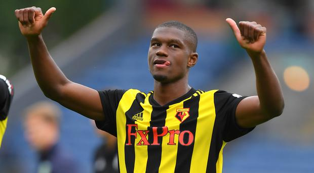 Christian Kabasele believes Watford are stronger than last season (Dave Howarth/PA)