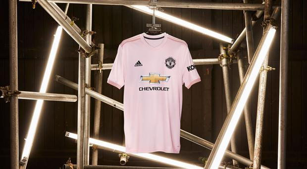 Manchester United's new pink away kit (Adidas)