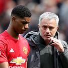 Jose Mourinho, right, insists Marcus Rashford gets plenty of playing time with Manchester United (Martin Rickett/PA)