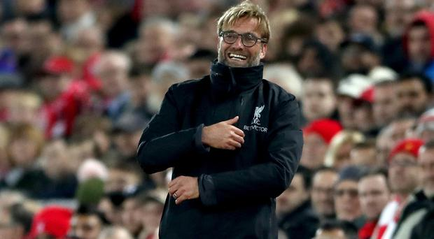 Jurgen Klopp has laughed off suggestions Liverpool should abandon the Champions League to focus on winning an English title (Nick Potts/PA).