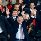 Sir Alex Ferguson received a huge standing ovation at Manchester United (Martin Rickett/PA)