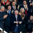 Sir Alex Ferguson was at Old Trafford (Martin Rickett/PA)