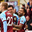 It was all smiles for Burnley as they ended their winless run in style (Anthony Devlin/PA)
