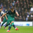 Harry Kane opened the scoring for Tottenham from the penalty spot (Steven Paston/PA).