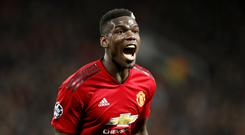 Manchester United's Paul Pogba has been linked with Paris St Germain (Martin Rickett/PA)