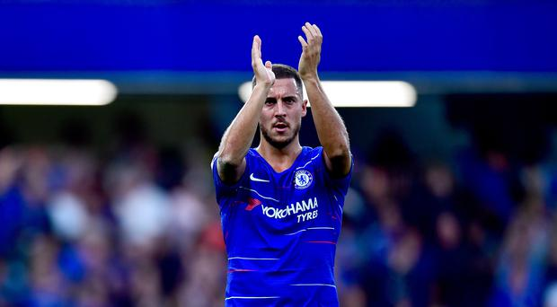 Chelsea's Eden Hazard did little to douse speculation over a possible move to Real Madrid on Thursday (Victoria Jones/PA Images)