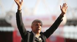 Former Arsenal manager Arsene Wenger says he expects to be back in football next year (Nick Potts/PA).