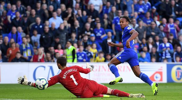 Bobby Reid (right) scores his first Cardiff goal in the 4-2 Premier League defeat of Fulham and believes the Bluebirds are heading in the right direction (Simon Galloway/PA)