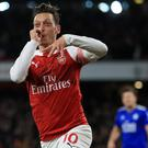 Mesut Ozil produced a sublime display against Leicester (Mike Egerton/PA)