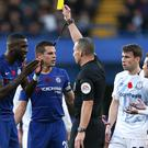 Chelsea defender Antonio Rudiger could not believe he was booked after believing Everton's Bernard head-butted him (Steven Paston/PA Images)