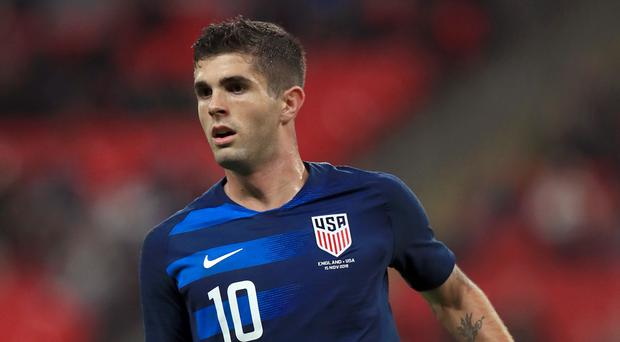 USA's Christian Pulisic could be heading to the Premier League (Mike Egerton/PA)