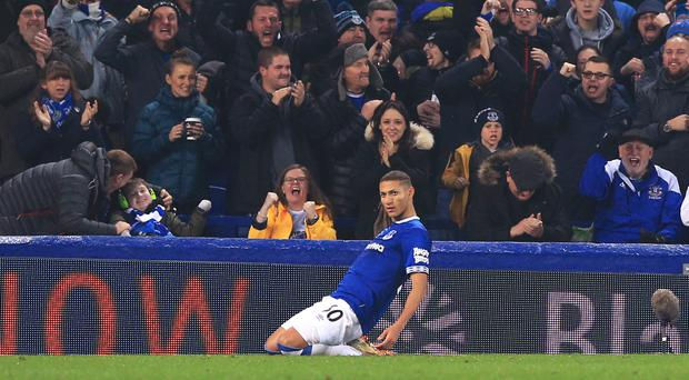 Richarlison scored as Everton came from behind to draw against Newcastle (Peter Byrne/PA)